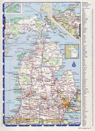 Map Of Southern Michigan by Map Of Michigan The Name Michigan Is The French Form Of The