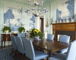 themed dining room dining room dining room wall decor with blue mural wall covering