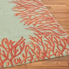 Outdoor Floor Rugs Orange Coral Reef Indoor Outdoor Area Rugs