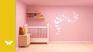 Asian Paints Wall Stories Butterfly DIY Stencil Kit White L - Asian paints wall design