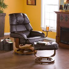 Wooden Chairs For Living Room Living Room Leather Recliners With Yellow Wall Design And Brown