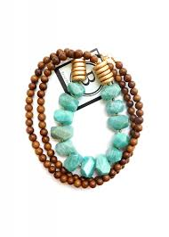 wood beads necklace designs images Betsy pittard wood bead necklace w turquoise accent beads olive jpg