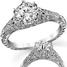 carved engagement rings fb diamond antique engraved engagement ring moissaniteco