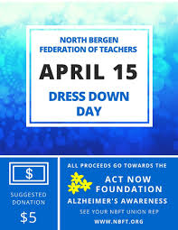 dress down day april 15 2016 act now foundation north bergen