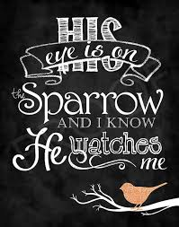 chalkboard his eye is on the sparrow