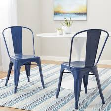 Navy Bistro Chairs Carbon Loft Tabouret Navy Bistro Dining Chairs Set Of 2 Free