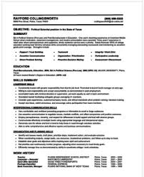 exle of resume resume ex resume templates