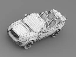 range rover sketch range rover autobiography black lwb cabrio l405 2 by creator 3d