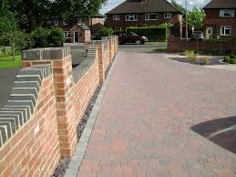 stylish and peaceful front garden brick wall designs front garden