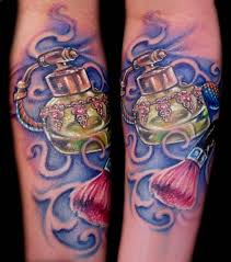 perfume bottle tattoo art and designs page 3