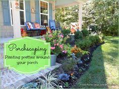 Front Porch Landscaping Ideas Landscaping With Rocks Around Your Porch Front Porches Porch