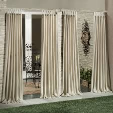 decorating exciting sheer outdoor curtain panels with outdoor