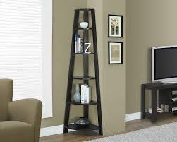 Espresso Corner Bookcase Top 10 Corner Shelves For Living Room