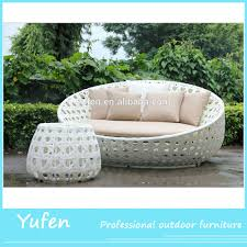 Single Couch White Rattan Round Lounge Chair Single Sofa With Side Table Buy