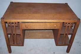 antique mission desk 1920s 30s mission oak library desk wside