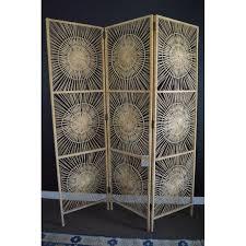 vintage sunburst wicker room divider chairish