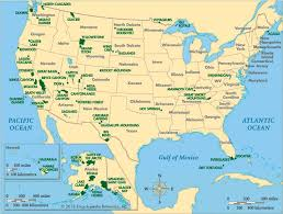 usa map map usa national parks major tourist attractions maps