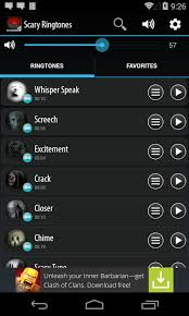 free ringtone downloads for android cell phones scary ringtones android apps on play