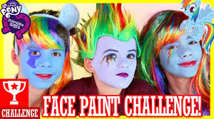 my little pony rainbow dash face paint challenge kittiesmama