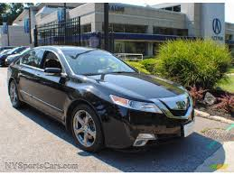 Acura Umber Interior 2010 Acura Tl 3 7 Sh Awd Technology In Crystal Black Pearl