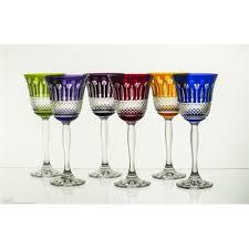 beautiful wine glasses polish art center crystal tulip shaped wine glasses set of 6