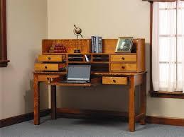 Computer Desks With Storage Amish Writing Desk With Storage Hutch Top