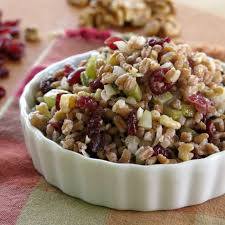 farro with cranberries and walnuts sundaysupper you ll