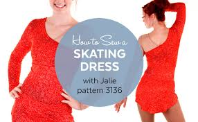 how to make a skating dress jalie pattern 3136 youtube