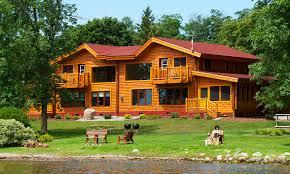five bedroom log homes leech lake fishing resort brindley u0027s harbor