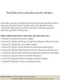data entry resume top 8 data entry specialist resume sles 1 638 jpg cb 1428550013