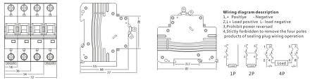 ekm1 63dc 4p mcb minature circiut breaker shanghai anson