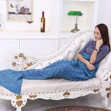canap molletonn sirène plaid couette sirène queue couverture molleton à carreaux en