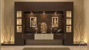 pooja place in living room home design inspirations