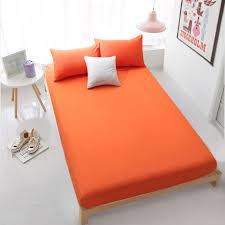 aliexpress com buy home textile orange fitted sheet bed sheets