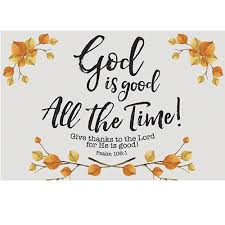 pkg 25 thanksgiving message cards god is all the time