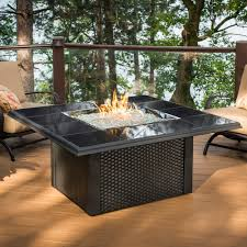 Outdoor Fireplace Deck Minimalist Outdoor With Propane Gas Fireplace Table Glass Rocks
