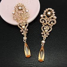 drop earrings gold orange earrings gold drop earrings vintage gold earrings gold