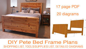 awesome queen size wood bed frame wooden within inspirations 7