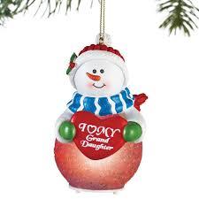 grandson granddaughter snowman ornaments