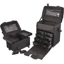 professional makeup carrier glenor beauty 2 in 1 rolling wheeled professional