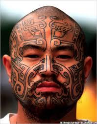 20 face tattoos we actually appreciate tribal cheeks guff