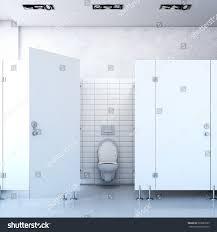 Public Bathroom Floor Plan by Public Toilet Cubicle 3d Rendering Stock Illustration 266681507