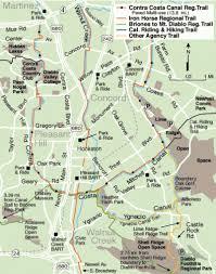 concord california map california and hiking trail