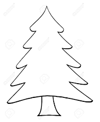 christmas tree outline clipart clipart collection christmas