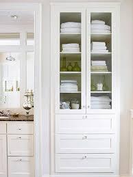 Bathroom Linen Shelves Gorgeous White Bathroom Linen Cabinet Best Ideas About Linen