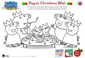 peppa pig peppa u0027s christmas wish free colouring download