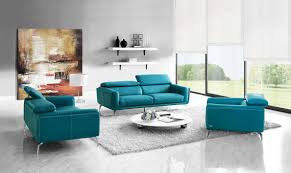 Blue Leather Chair Sprint Solid Wood Frame Sofa Set Sprint Living Room Sofa Set