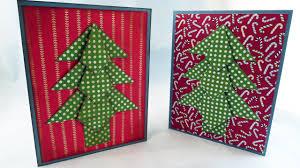 origami christmas tree card tutorial youtube