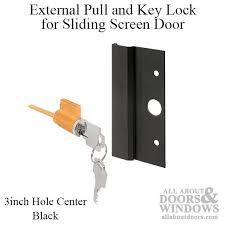 Locks Sliding Patio Doors Pull And Key Lock Sliding Patio Door International Black