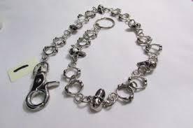long silver rings images Silver metal wallet chain long keychain skeleton rings skull jpg